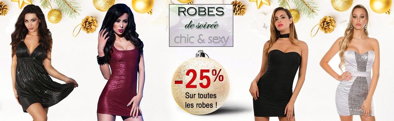 Profitez de l'offre de Noël - 25 % sur toutes les robes sexy !